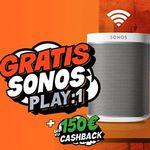 Nur heute! Gratis Sonos Play:1 für alle DSL-Wechsler – z.B.  Unitymedia 2play Jump 120 ab eff. 9,58€ mtl.