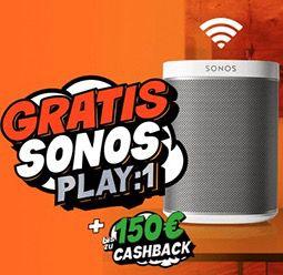 Nur heute! Gratis Sonos Play:1 für alle DSL Wechsler   z.B.  Unitymedia 2play Jump 120 ab eff. 9,58€ mtl.