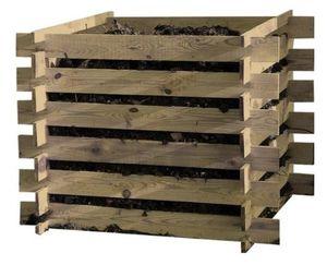 Komposter aus Holz 100 x 100 x 70cm für 18,99€ (statt 24€)
