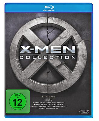 X Men Collection Blu ray Boxset (Teil 1 bis 6) für 22€ (statt 30€)
