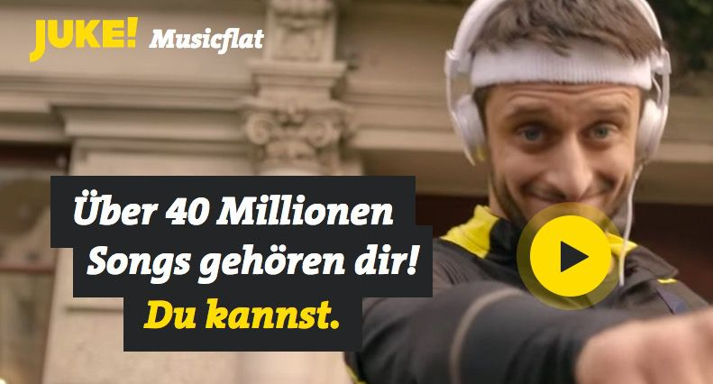 GRATIS! JUKE Music Flat (40 Mio. Songs) für 3 Monate kostenlos (statt 30€)