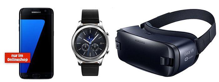 TOP! Samsung Galaxy S7 + Gear S3 + Gear VR im Telekom Comfort Tarif mit 2GB für 39,95€ mtl.