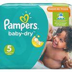108er Pack Pampers Baby Dry Windeln Gr.5 (Junior) 11-23 kg für 23,95€ (statt 36€)