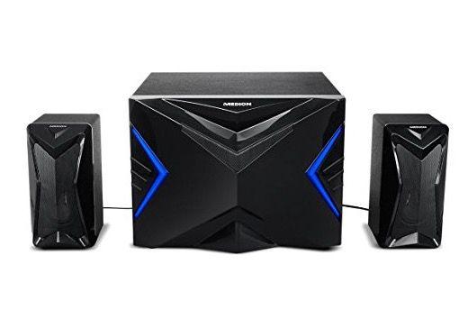 Medion 2.1 Gamer Soundsystem mit integriertem Verstärker für 29,95€ (statt 45€)