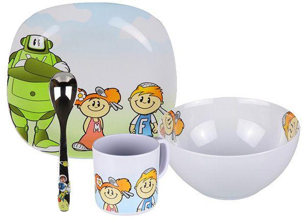 WMF Willy Mia Fred   4 teiliges Kinder Ess Set für 15,24€ (statt 25€)