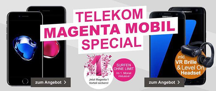 iPhone 7 ab 1€ + Telekom Magenta Mobil S für 42,45€ oder Mobil M für 52,45€mtl.   Friends Vorteil möglich