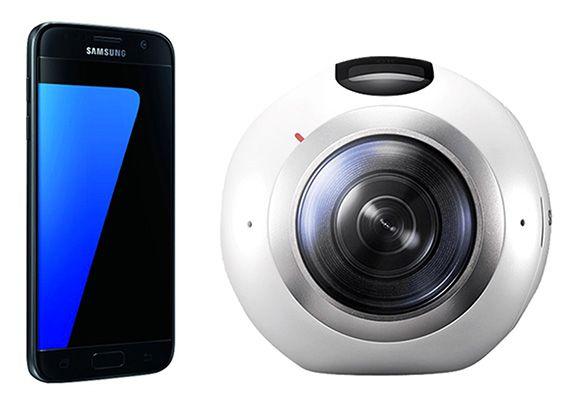 Samsung Galaxy S7 + Samsung Gear 360 für 449€ (statt 565€)   mit S7 Edge für 549€ (statt 644€)