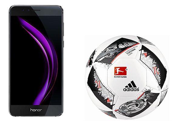TOP! Honor 8 Dual Sim Smartphone 32GB + adidas Fußball für 299€ (statt 362€)