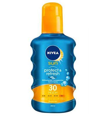Nivea Sun Protect & Refresh Sonnenspray LSF 30 (200ml) für 7€ (statt 10€)