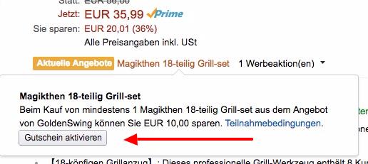 Magikthen Grillbesteck Set 18 teilig für 25,99€
