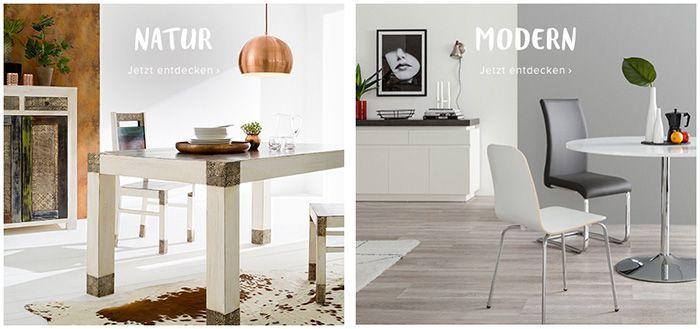 15% Rabatt auf Esszimmermöbel ab 150€ + gratis Versand bei home24