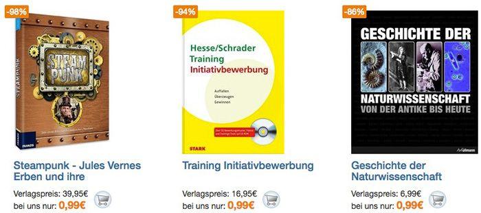 Über 1.400 Bücher für je 0,99€ + einmalig 3,95€ VSK