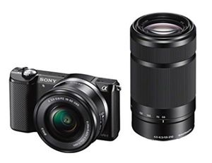 Sony Alpha 5000 Systemkamera Kit mit 16 50 mm + 55 210 mm für 428,35€ (statt 539€)