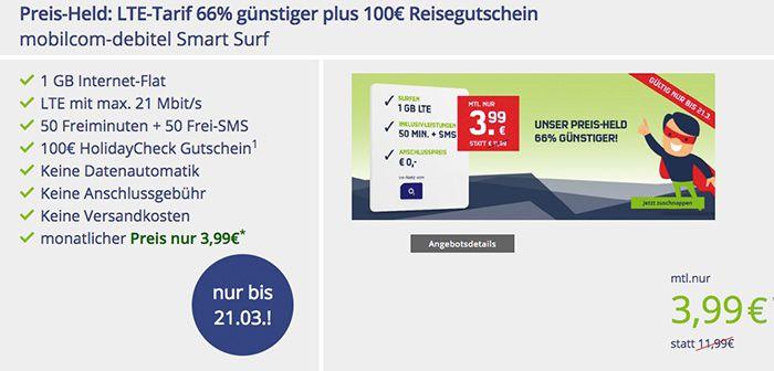Bildschirmfoto 2017 03 17 um 10.18.32 Knaller! o2 Smart Surf mit 1GB LTE für 3,99€ mtl. + 100€ Holidaycheck Gutschein