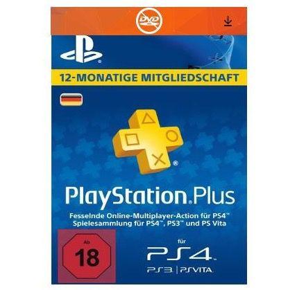 PlayStation Plus Card (365 Tage) für 41,99€(statt 58€)