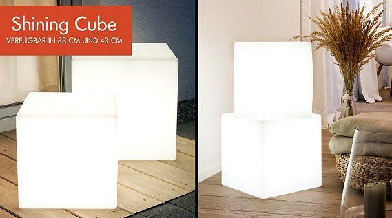 8 Seasons Dekoleuchten für innen und außen   z.B. Shining Cube 43cm für 84,50€ (statt 106€)