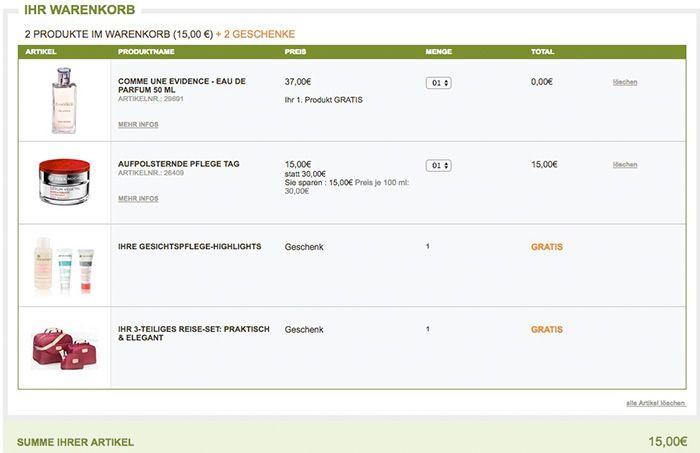 TOP! Yves Rocher Sale bis  50% + 1. Produkt gratis + gratis Gesichtspflege + gratis Taschen Set
