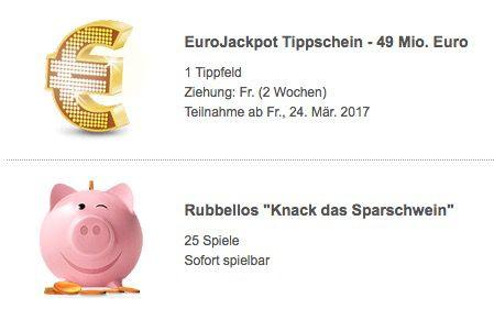 Bildschirmfoto 2017 03 22 um 12.25.28 1 Tippfeld Eurojackpot für 2 Ziehungen (60 Mio. Jackpot) + 25 Rubbellose für 0,99€   nur Neukunden