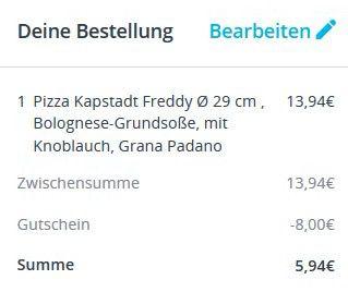 8€ Lieferheld Gutschein ab 12€   nur Neukunden!
