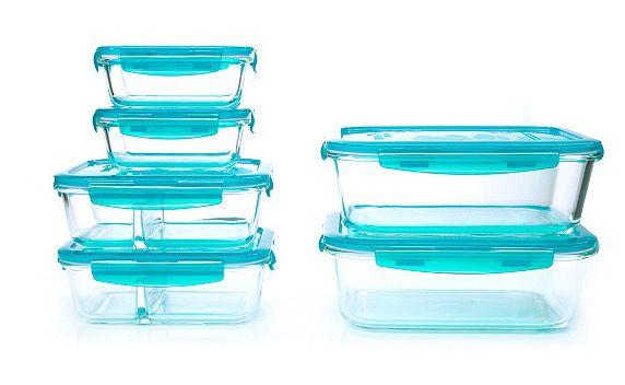 6er Set Lock & Lock Vorratsdosen aus Borosilikatglas für 24,96€