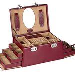 Windrose Merino Schmuckkoffer aus Feinsynthetik für 44,90€ (statt 110€)
