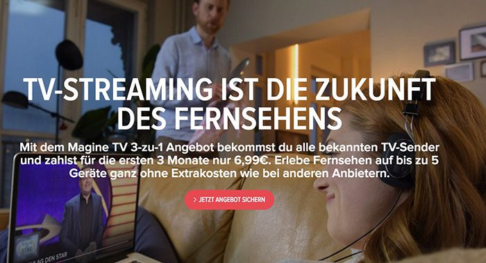 3 Monate Magine TV für nur 6,99€   nur Neukunden
