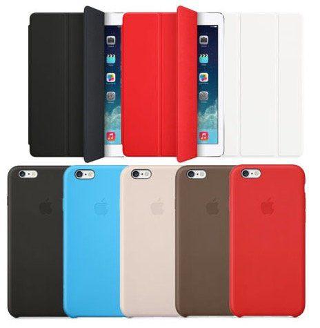 iPhone 6 & 6 Plus Leder  und Silikon Cases oder iPad Air (2) Smart Cover für je 19,99€