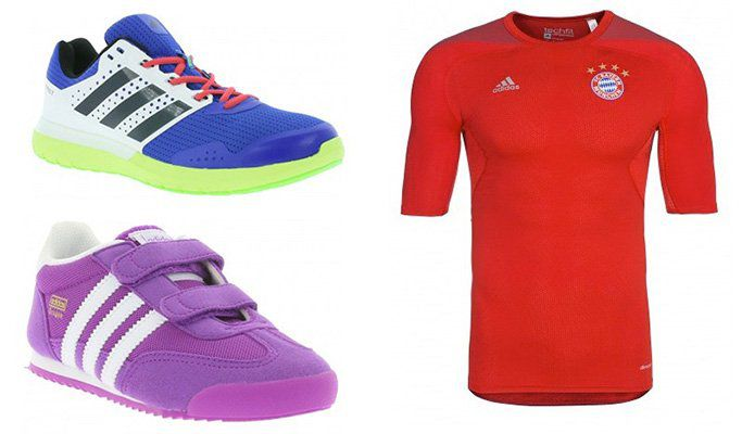 adidas Sale bei Outlet46   z.B. Badelatschen für 9,99€ + mehr günstige Sport Fashion