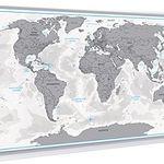 XXL Design Rubbel Weltkarte Echt-Holz-Rahmen auf Pinnwand für 12,97€ inkl. VSK