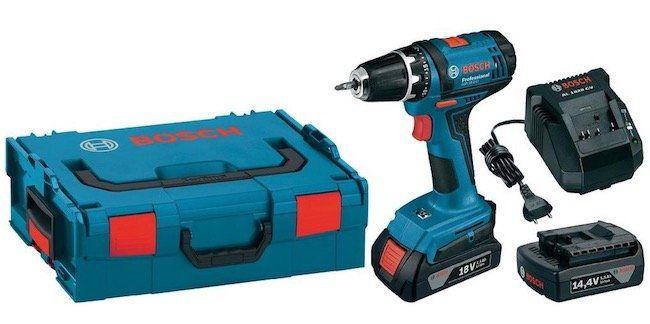 Bosch GSR 18 2 LI Akkuschrauber mit 2 Akkus je 1,5 Ah + Ladegerät + L Boxx für 99,99€ (statt 139€)