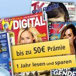 TV Zeitschriften mit bis zu 50€ Prämie – TV Spielfilm, TV Movie etc.