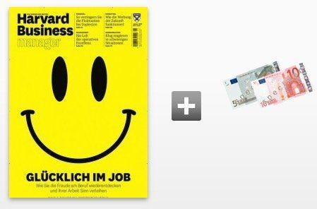3 Ausgaben Harvard Business manager im Mini Abo für 28,29€ + 15€ Verrechnungsscheck