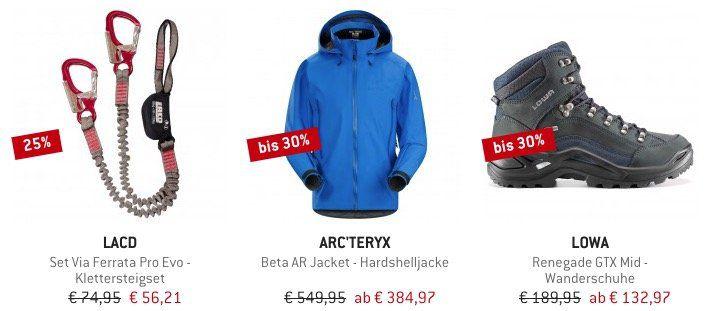 Bergfreunde Lagerräumung mit bis zu 60% Rabatt + 10% Gutschein   z.B. La Sportiva Skwama Kletterschuhe für 104,36€ (statt 119€)