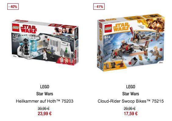 20% auf Spielwaren bei Galeria Kaufhof bis Mitternacht   z.B. Lego Star Wars Heilkammer auf Hoth ab 23,99€ (statt 30€)