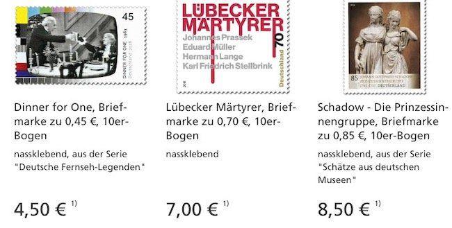 Deutsche Post eFiliale ohne Versandkosten   z.B. 100 Klebeetiketten für 3,99€