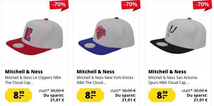 Mitchell & Ness Snapbacks für je 8,99€ inkl. VSK