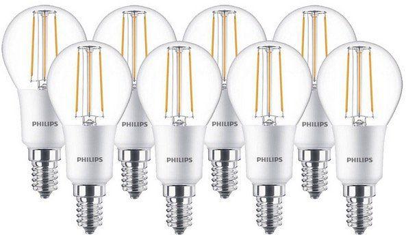 8er Pack Philips LED Lampe Classic E14 für 22,90€ (statt 31,12€)