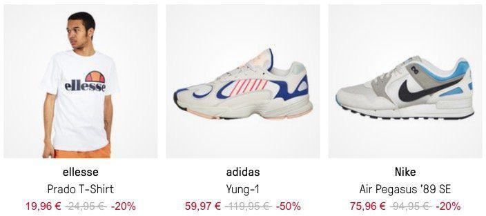 HHV Sale mit bis zu  50% + 25% Gutschein   z.B. Adidas I 5923 für 42,98€ (statt 60,99€)