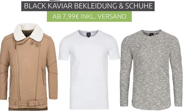 Black Kaviar Sale bei Outlet46   z.B. Kyog Herren Jacke für 17,99€ (statt 60€)
