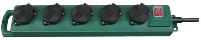 Brennenstuhl BAT Super Solid SL 544 D   Doppelpack Garten 5fach Steckdosenverteiler mit 5m Kabel für 14,99€ (statt 26€)