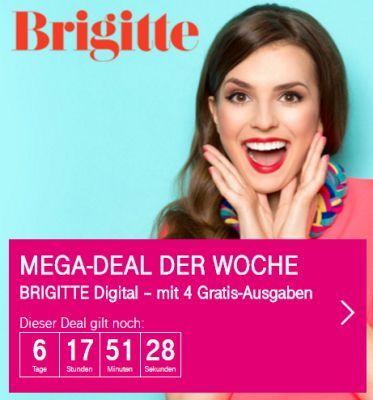 Nur für Telekom Kunden: 4 Ausgaben Brigitte digital gratis – Kündigung notwendig