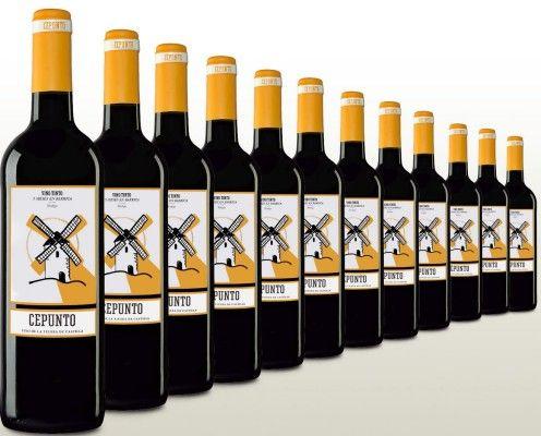 12 Flaschen Cepunto   spanischer Rotwein für 37,90€