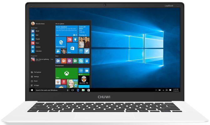 CHUWI LapBook (14.1 Zoll FHD, Quad Core, 4GB RAM, Win10) für nur 210,60€