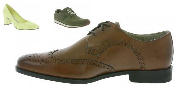 best service b5cb7 577fe Clarks Damen und Herren Leder Schuh Sale - u.a. Clarks ...