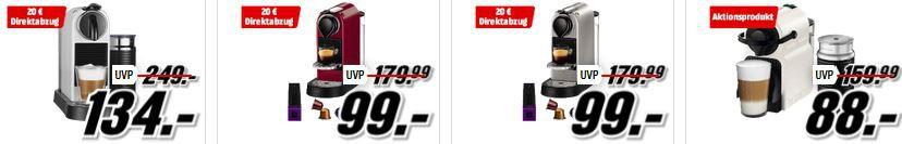 Media Markt Nespresso Tiefpreisspätschicht – Reduzierte Nespresso Maschinen