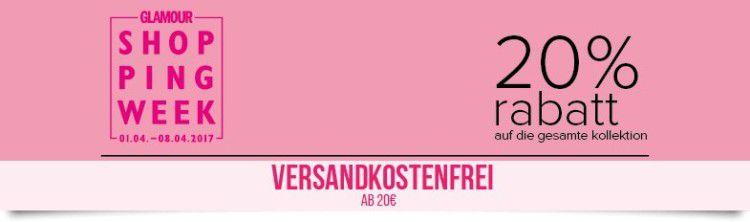 Hunkemöller Shoppingweek mit 20% Rabatt auf alles + VSK frei ab 20€ bis Mitternacht!