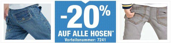 Vertbaudet mit 20% Rabatt auf alle Hosen für Damen und Kinder   bis Mitternacht!