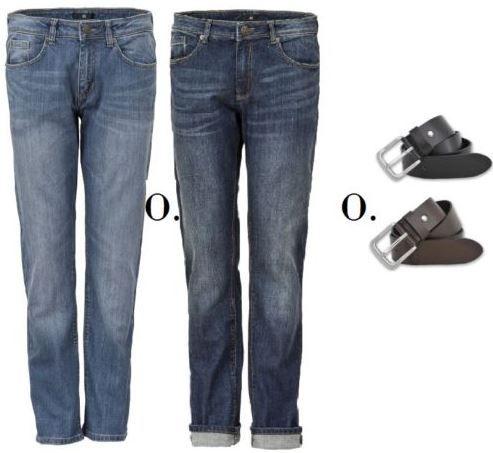 H.I.S Herren Jeans & Ledergürtel Gürtel Braun oder Schwarz für 24,99€