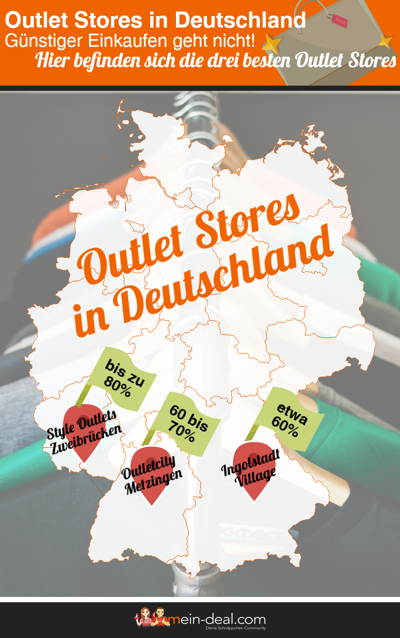 Infografik Outletstores in Deutschland Outlet Stores in Deutschland – Shopping zu günstigen Preisen!