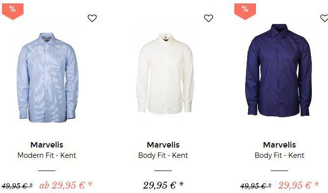 myHemden Sale + 25% Gutschein   z.B. Eterna Kent Hemd in Modern Fit für 30€ (statt 35€)